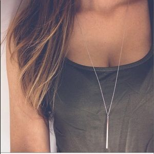 Silver Dangling Bar Necklace (152)